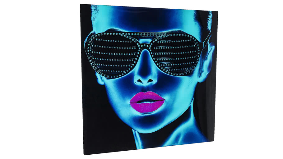 39275 Picture Glass Tough Girl 120x120cm
