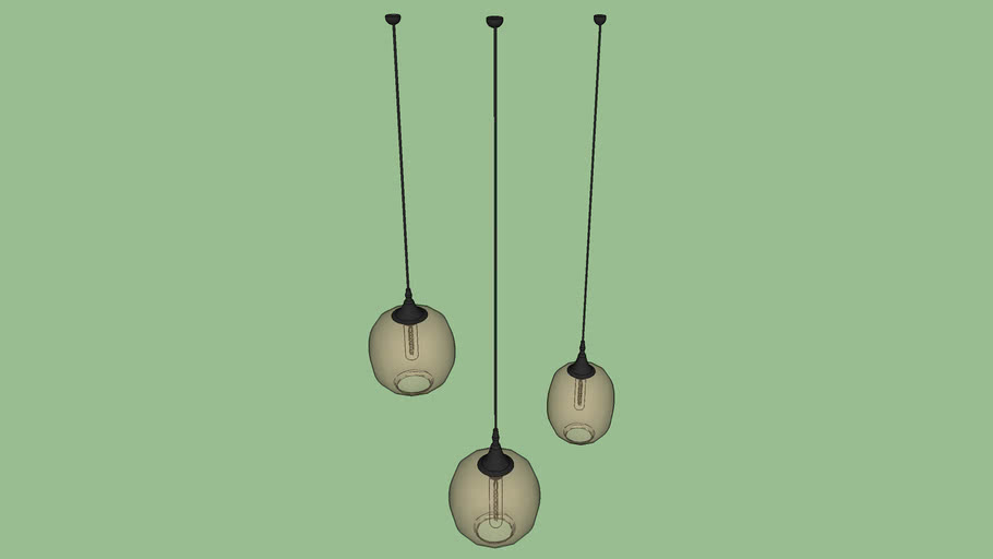 Glazen hanglampen - enscape ready