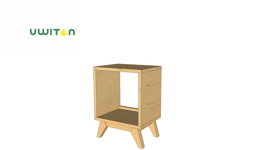 1 Drawer Solid UWITAN