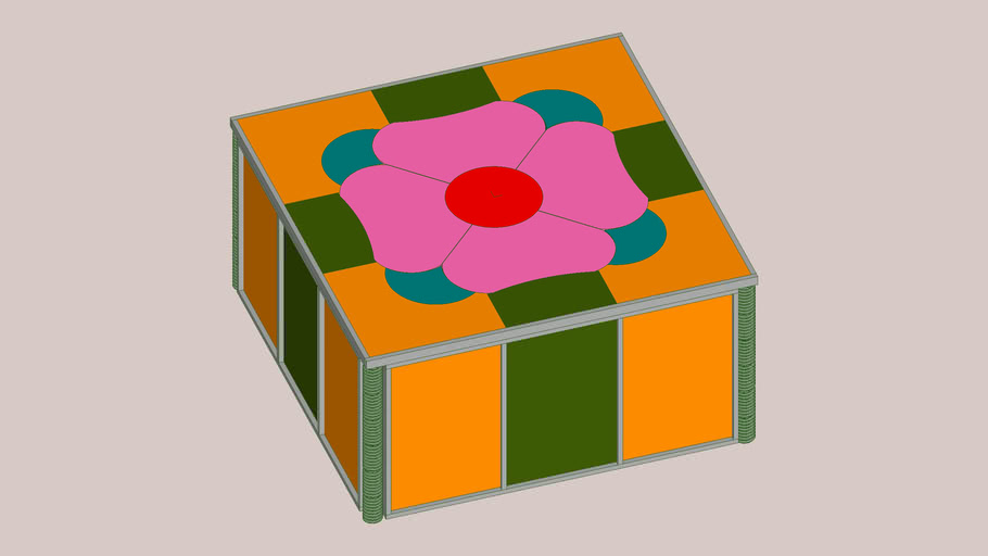 Stained glass box with 5 inch lid