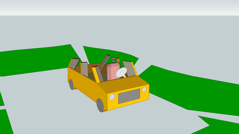 Asymmetrical car for more drivers visibility