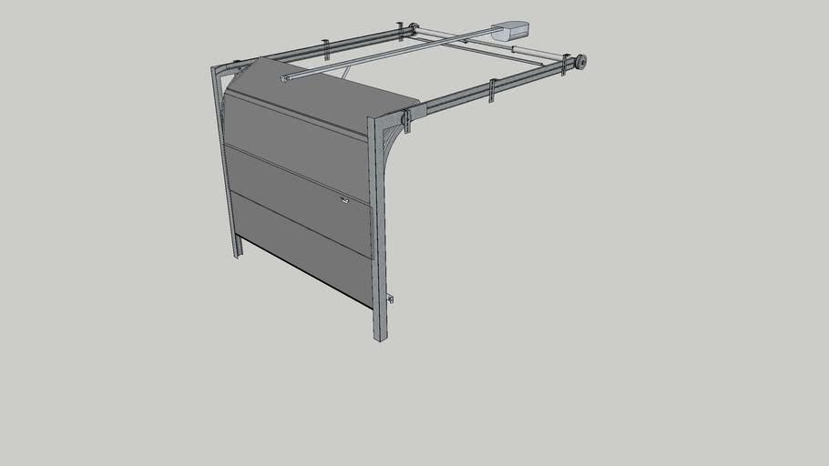 Porte de garage sectionnable dynamique grise