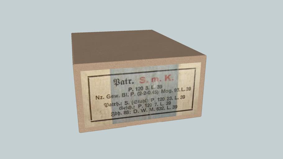 German WWII 7,92x57 ammo box,S.m.K. bullet,1939
