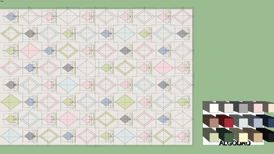 Tapete Losango com Triângulo - Kinder Design