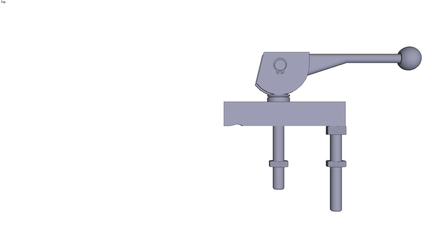 Double cam clamp - 125 x 32 x 25 mm