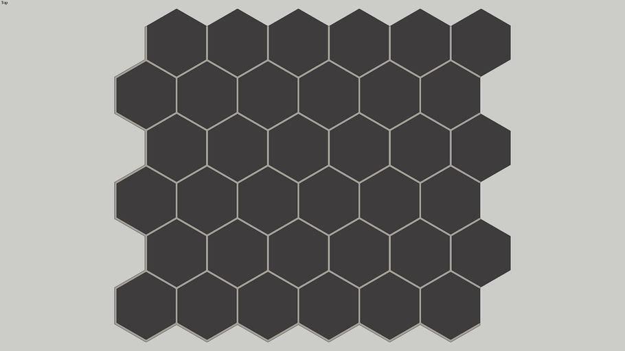 Pastilha VISTA HEX GRAY, de Porcelana, Hexagonal, Luzzo Revestimentos