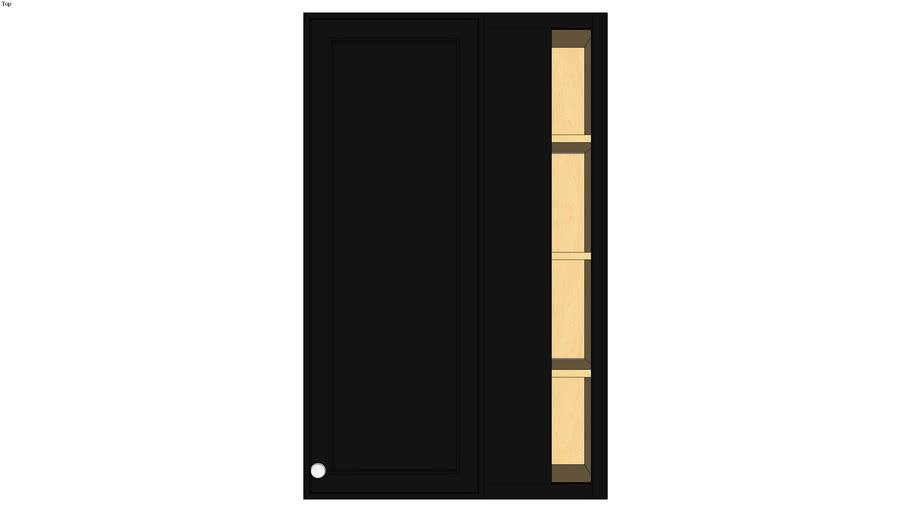 Wall Blind Corner Single Door 48H