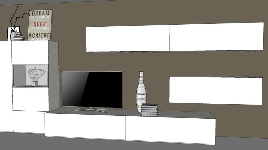 Tv Meubel Design.Wandmeubel Tv Meubel Wall Cabinet Tv 3d Warehouse