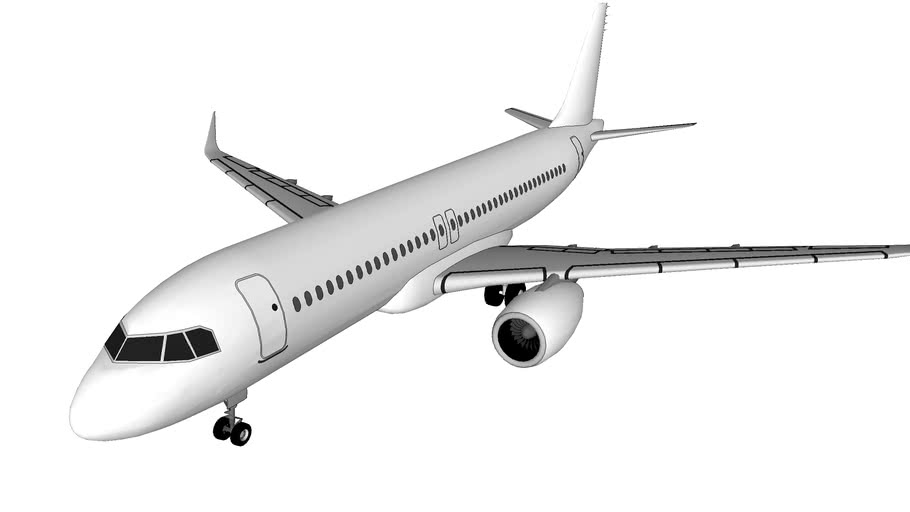 Airbus A320 With Sharklets (Template)