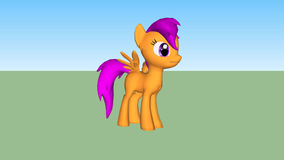 Scootaloo My Little Pony 3d Warehouse I am a member of the cutie mark crusaders, with sweetie bell and applebloom! scootaloo my little pony 3d warehouse