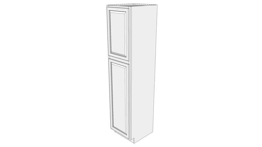 """Briarwood Tall Cabinet 24UCS2193 - 24"""" Deep, with Shelves, One Door"""