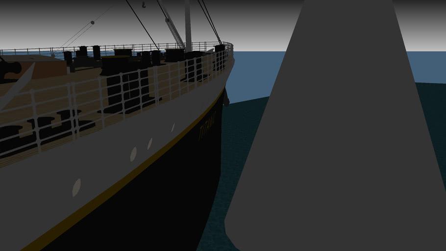 Heurtement du Titanic le 14 Avril 1912