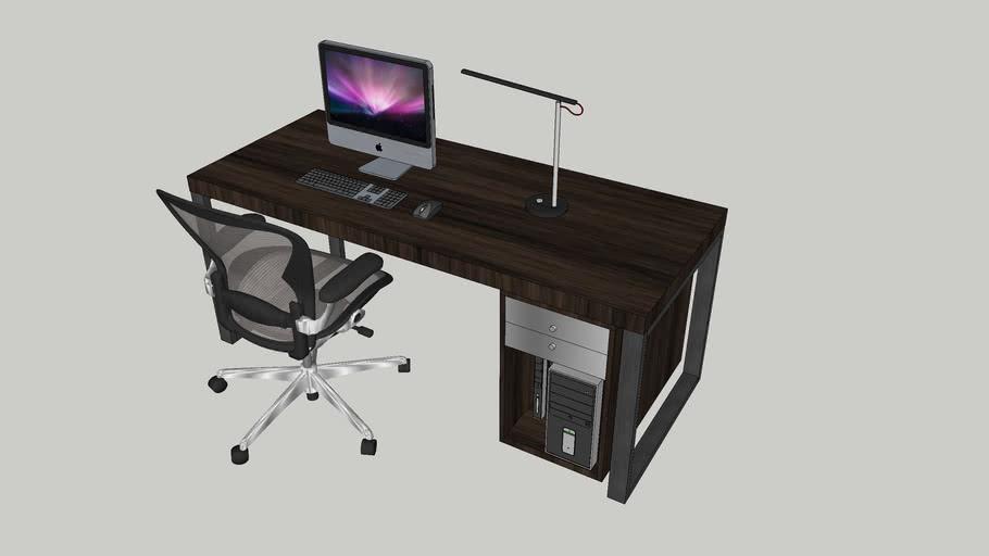 Office Desk -Chair-Computer