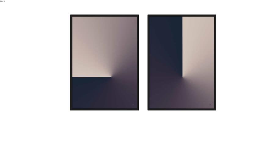 Quadros Abstract Slit I e II