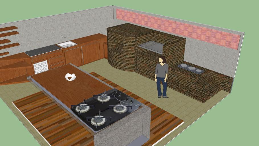 cozinha da churrasqueira