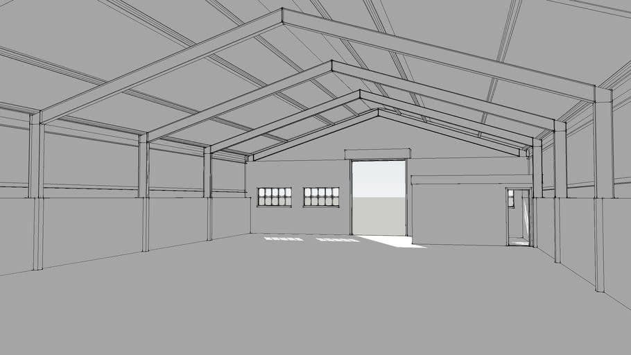 Steel frame warehouse industrial building factory