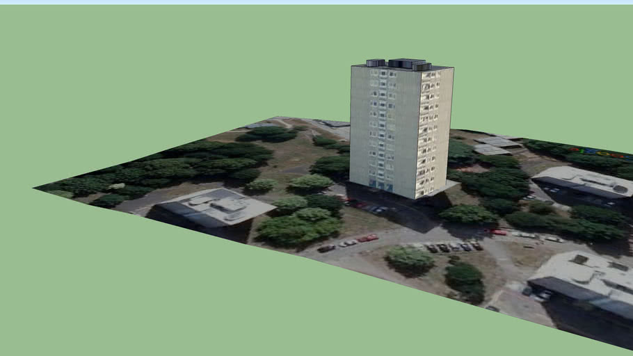 Tower Block in Roehampton 22 (Part Of The London 3d Project)