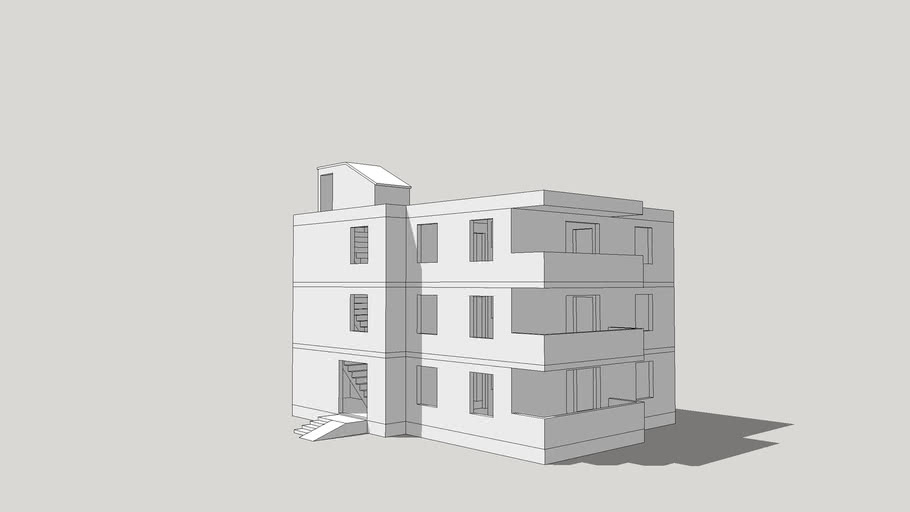 Two Floors-Apartment Block