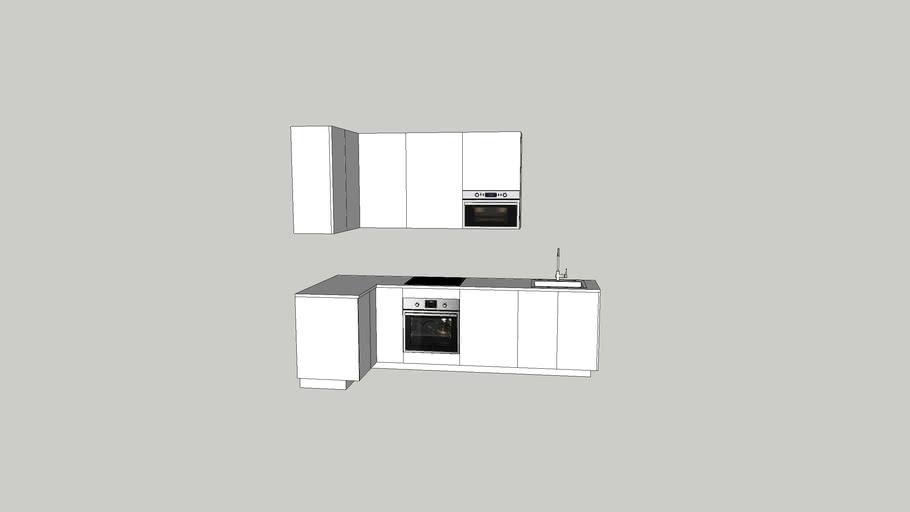 Cuisine IKEA blanche + electroménager