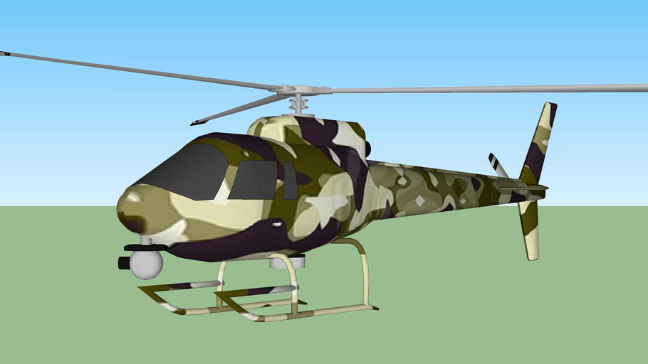 helicoptero camuflajeado