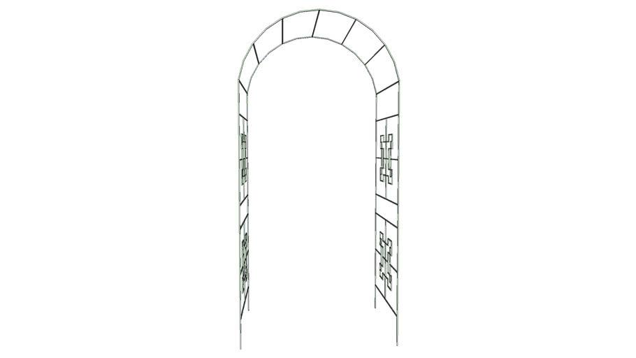 Metal Rose Arch - Verdigris