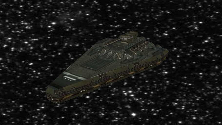 ULtra Low Poly Star Cruiser