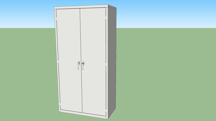 Locking Metal Storage Cabinet 3d, Storage Cabinets With Locks