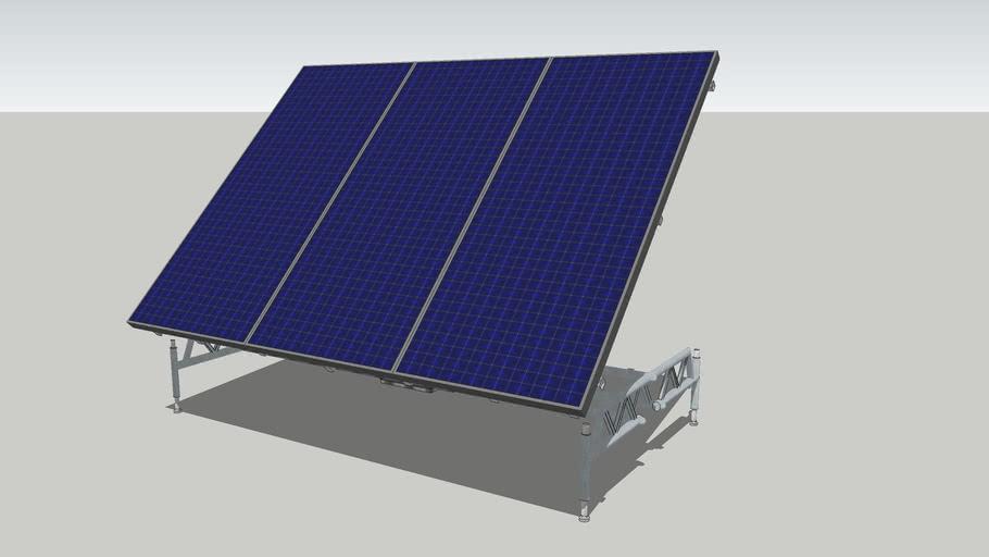 A six-scene animation of a single Solar Panel