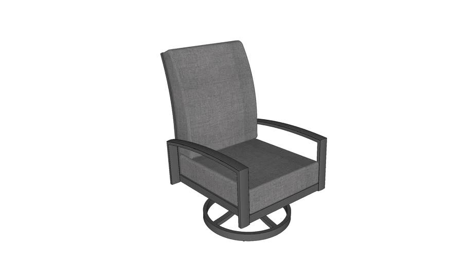 Lyndale Swivel Rocking Chair - Cast Slate