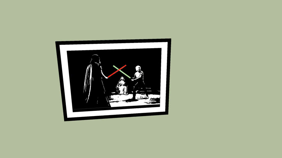 Luke vs Vader Framed Picture