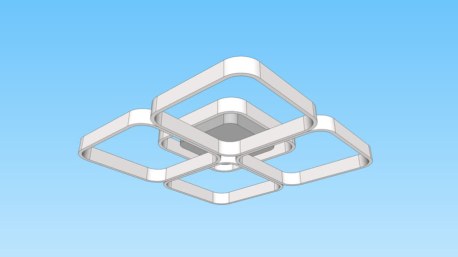 PLAFON MODERNO LED DE SOBREPOR  DRONE 1