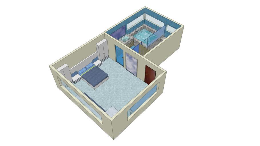 Habitación de matrimonio con baño