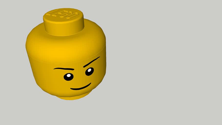 Grande tête de rangement Lego
