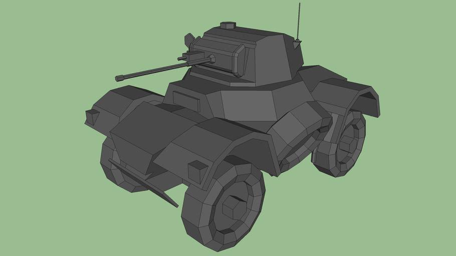 Daimler Armoured car (low poly)