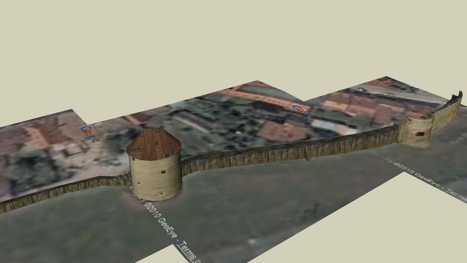 opevnenie mesta na juho-západnej strane, south-west fortification system
