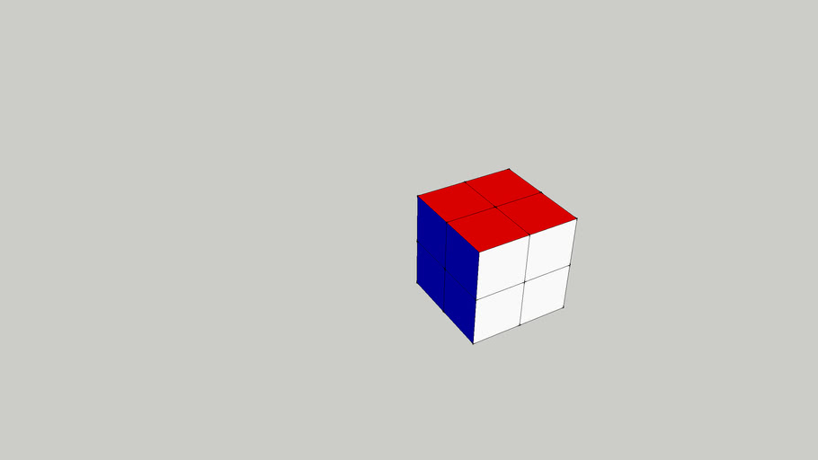 2 by 2 by2 Rubik's Cube (working)