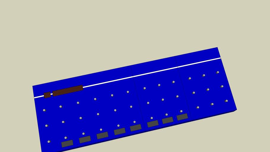 MIDI Effects Rack Controller- blue
