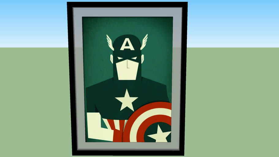 Quadro Capitão America