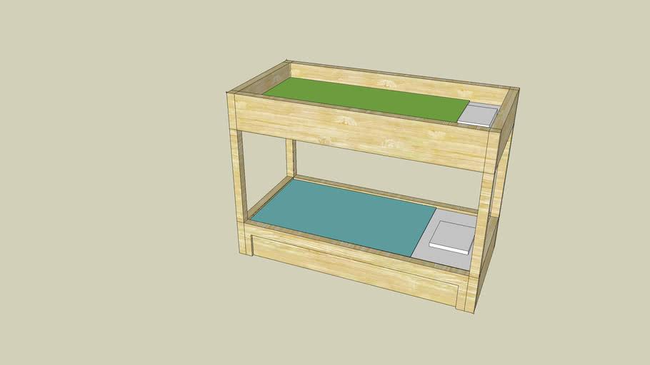 lit superbosé bois clair
