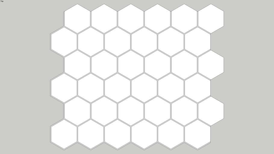 Pastilha VISTA HEX WH (WHITE), de Porcelana, Hexagonal, Luzzo Revestimentos