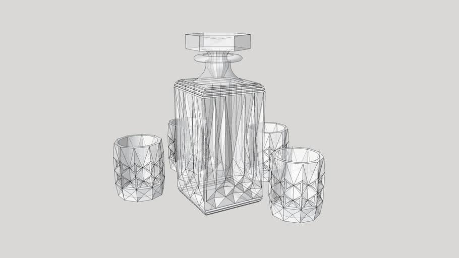 графин для виски,  графин,  стаканы, рюмки,decanter for whiskey, decanter,  glasses, stemware