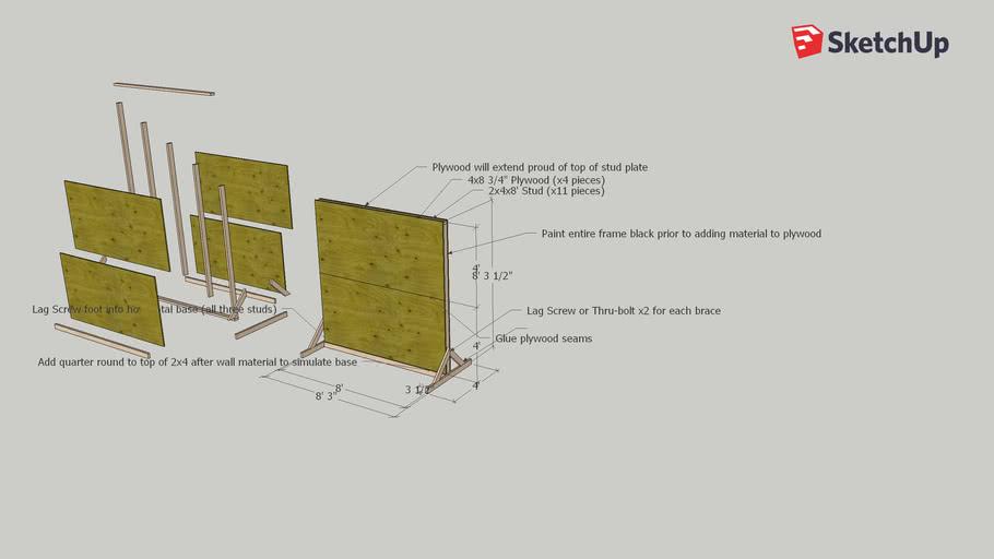 Simple Studio Portable Backdrop Frame