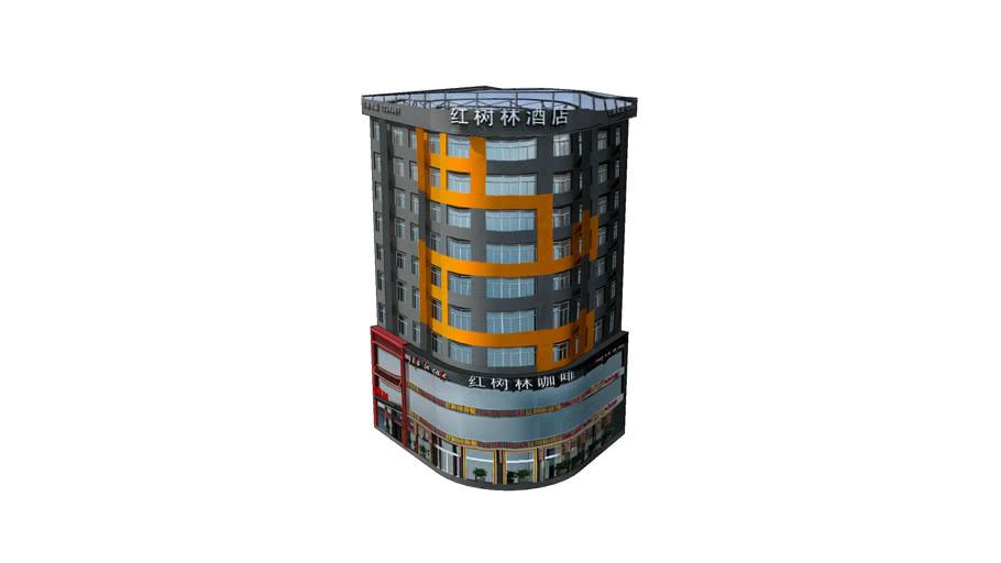 黄陂红树林商务酒店极简模型