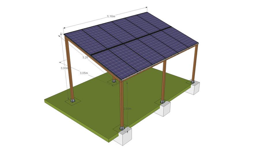 Gazebo fotovoltaico