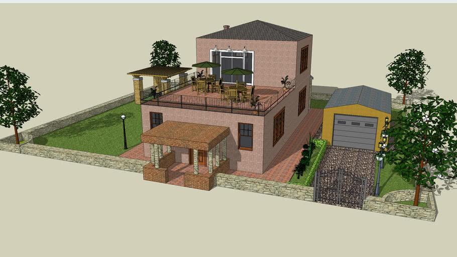 Casa-villa con spiazzo e garage