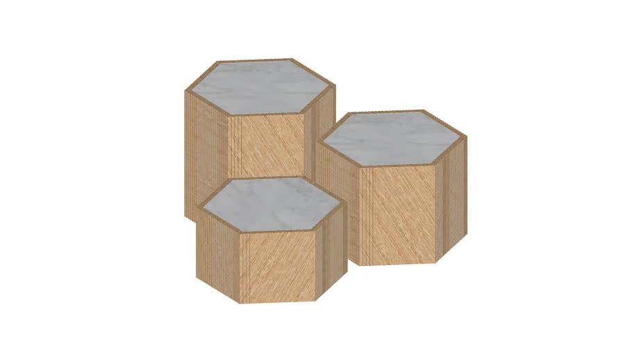 Jamie Young Co. Argan Hexagon Tables