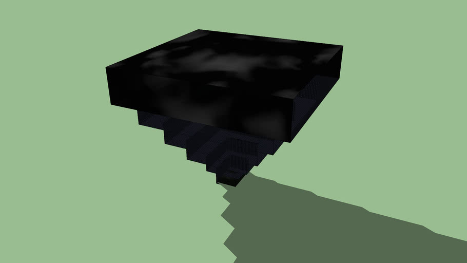 Obsidian Inverted Temple
