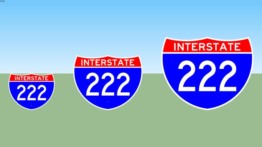 Interstate 222 Sign