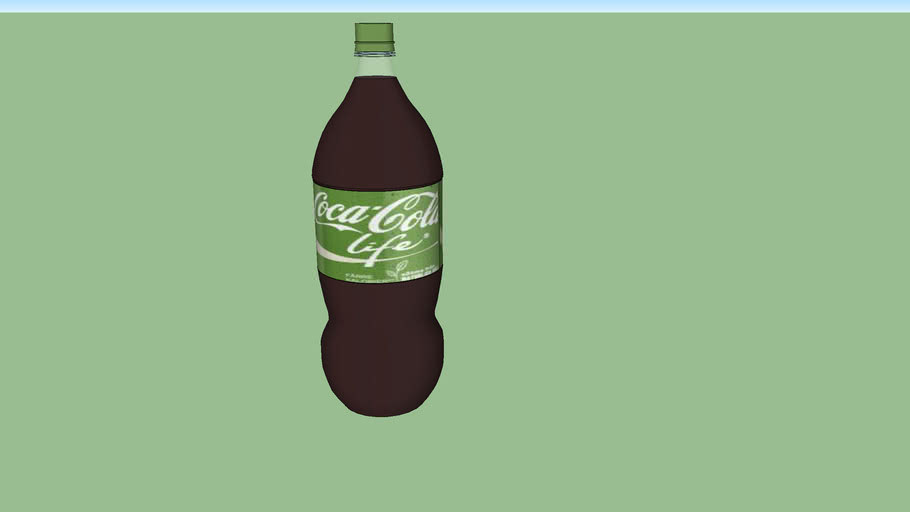 Coke Life 2 litre soda bottle