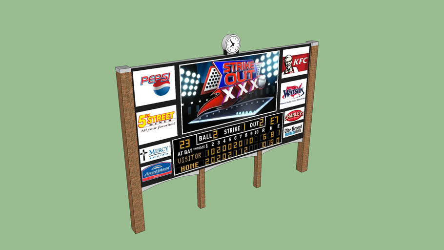 Large Baseball Scoreboard
